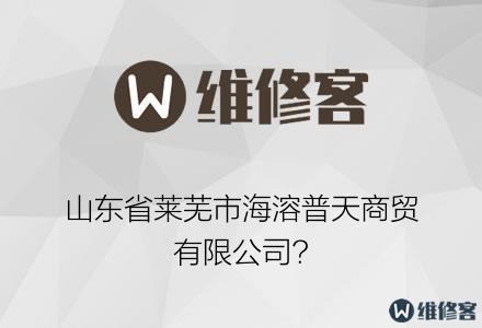山东省莱芜市海溶普天商贸有限公司?